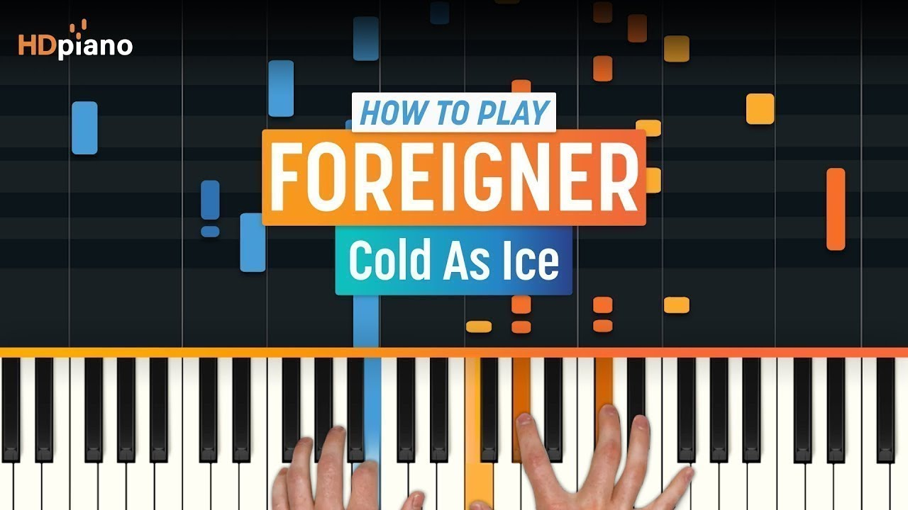 Cold as ice piano lesson part 1 foreigner youtube.
