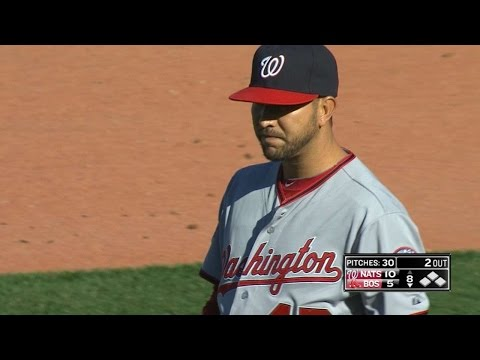 WSH@BOS: Martin strikes out five batters in MLB debut