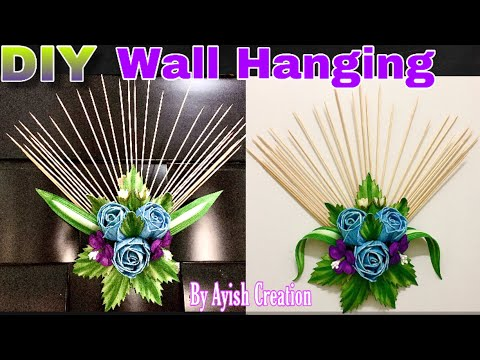 DIY Home Decor Ideas 💡/ Wall Hanging with Shashlik Sticks/ Shashlik sticks Craft Ideas / East Craft