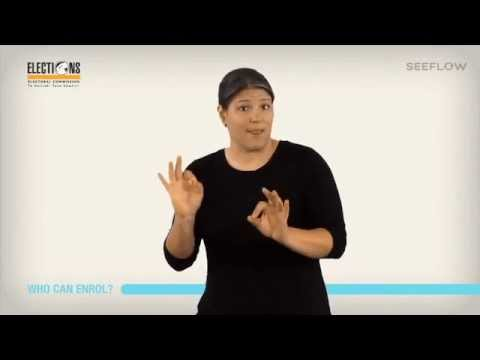 Enrol and Vote - In New Zealand Sign Language