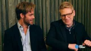 Chris Pine gets giggly talking about rubber duckies