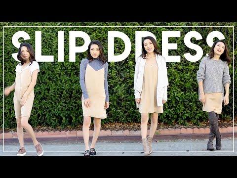 FALL FASHION 4 WAYS (Slip Dress)    Jen Chae