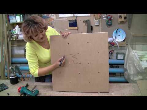Как сделать каретную стяжку на мебели своими руками