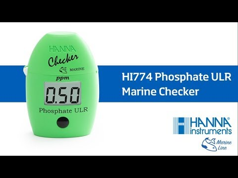 how to use the hi774 phosphate ulr marine checker youtube