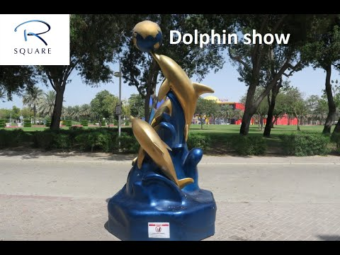 Dolphin show at DUBAI Dolphinarium .(malayalam)