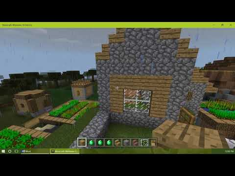 How to make a Minecraft Village Store
