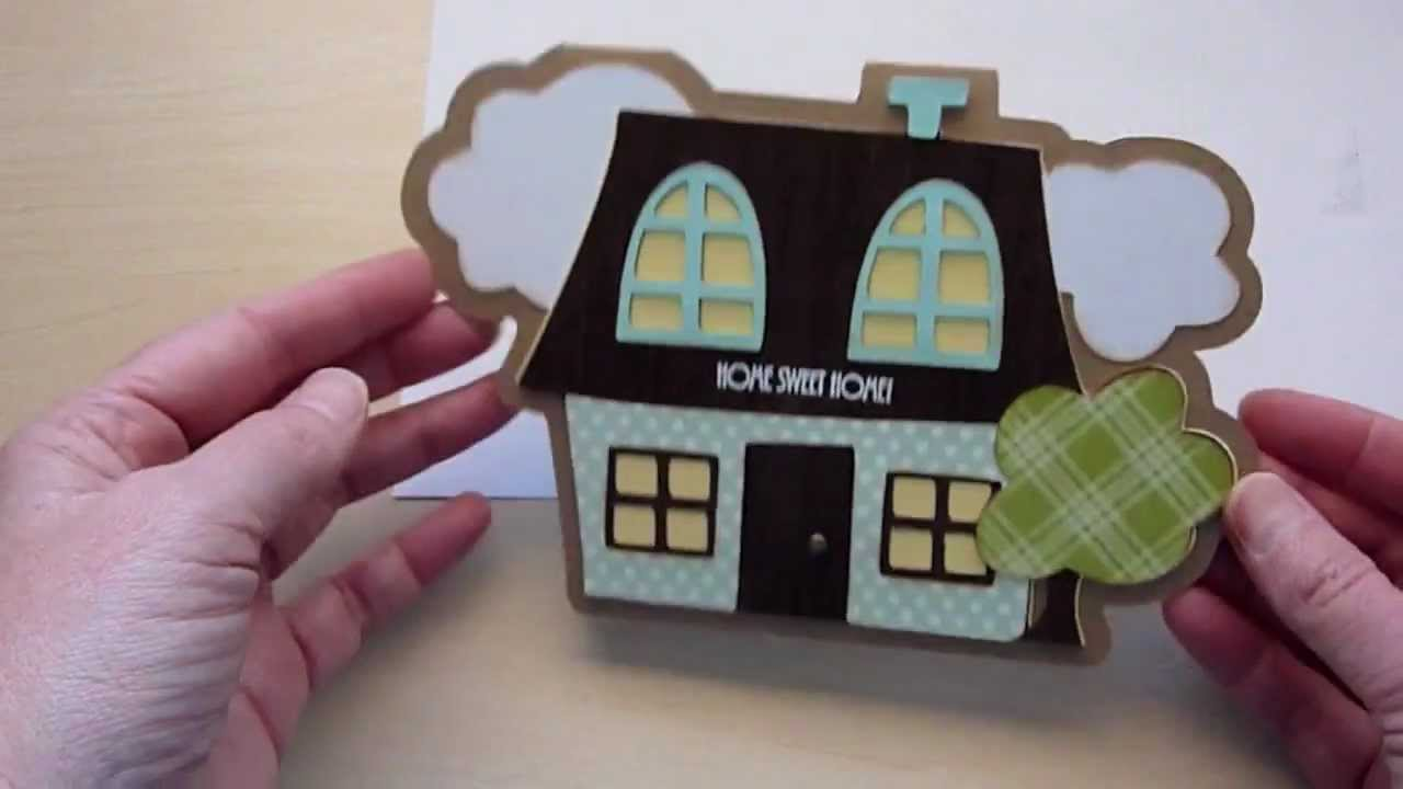 Card Making Ideas With Cricut Part - 27: New Home Card With Cricut Wild Card 2 - YouTube