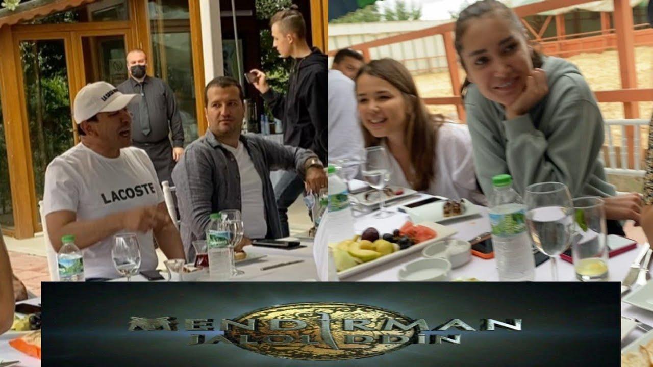 Turkiyda olinayotgan Mendirman Jaloliddin film ishtirokchilari va Ozodbek Nazarbekovdan jonli ijro