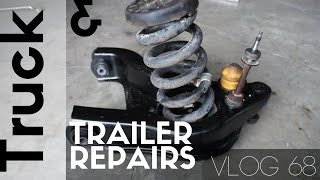 Broken Trailer Wheel Stud and Rebuilding the Front end of the Ram 3500 - VLOG 68
