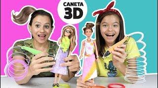 DECORANDO ROUPA DE BONECA COM 3 CORES DE CANETA 3D