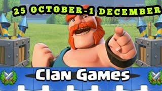 UPCOMING 25 NOVEMBER CLAN GAMES REWARDS.FULL REWARDS INFORMATION