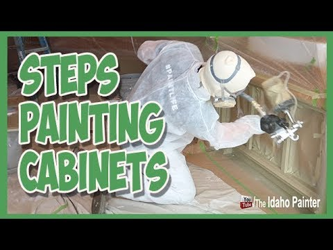 HOW TO PAINT CABINETS.  Our entire cabinet painting process exposed.