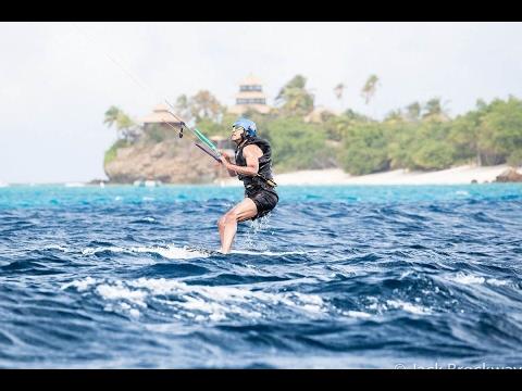 Barack Obama Kite Surfing on Richard Branson Beautiful Island