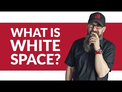 What is white space? Why you need white space in your layouts - Design Basics #03