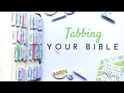 How to Tab Your Bible | Doodling Faith