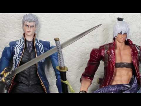 Devil May Cry 3 Play Arts Kai Dante & Vergil Video Game Action Figure Review