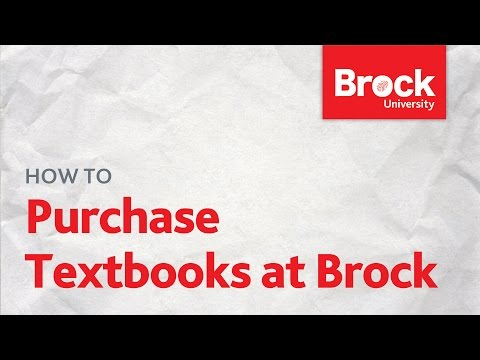 How to purchase textbooks at the Brock University Campus Store