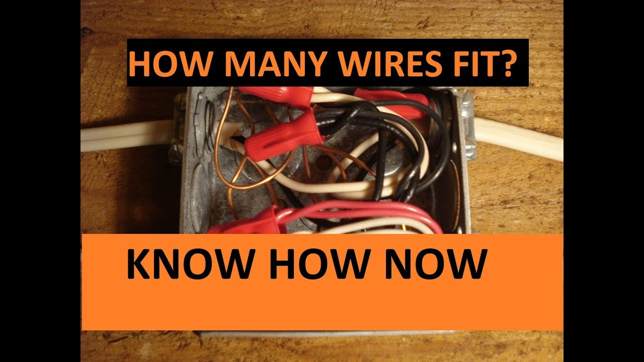 how many wires fit in a junction box youtube rh youtube com Electrical Junction Box Installation Automotive Wiring Junction Box