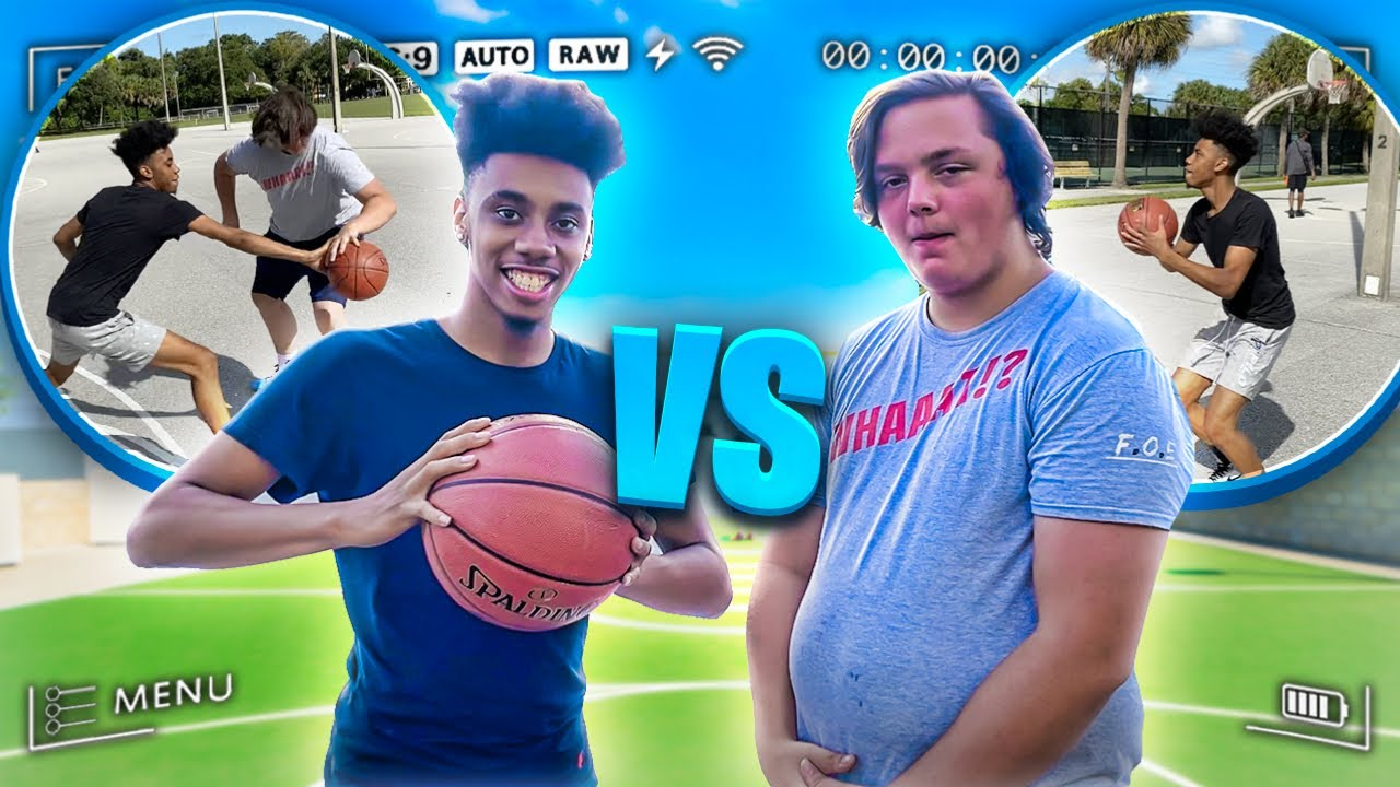 My First Ever Subscriber Called Me Out To A 1v1 Basketball Game!