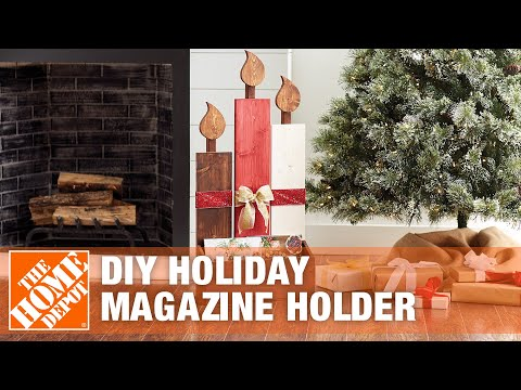 Christmas Decoration Ideas: Holiday Wooden DIY Magazine Holder | The Home Depot