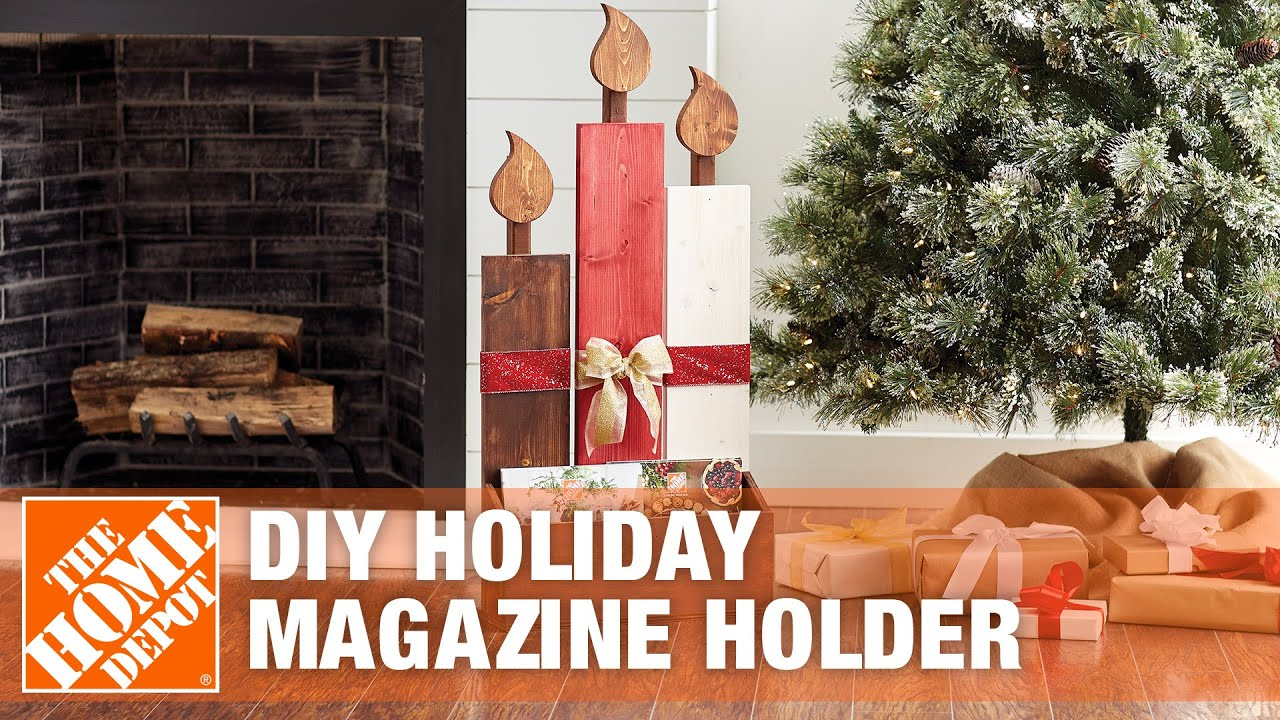 DIY Holiday Magazine Holder - The Home Depot