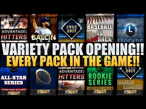 MULTIPLE DIAMOND PULLS! 99 OVERALL PULL & MORE! VARIETY PACK OPENING MLB The Show 17!