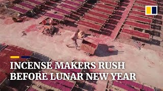 Chinese incense workers making a third of global supply scramble ahead of Lunar New Year