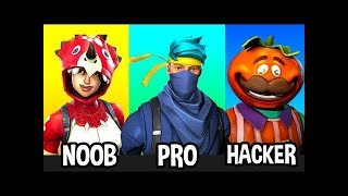 NOOB vs PRO vs HACKER Fortnite BR SAISON 5 / KTN & FFM / #1 !