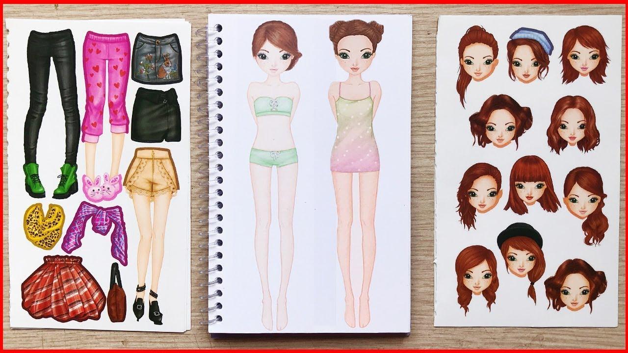 Đồ chơi dán hình thiết kế thời trang búp bê MODEL P1 –  Sticker doll top model (Chim Xinh)