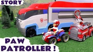 Paw Patrol Paw Patroller Toy Unboxing Story | Thomas and Friends Toys Juguetes de Patrulla Canina