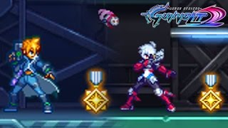 Azure Striker Gunvolt 2 - Medal Collection Guide! (All Stages & Both Characters)