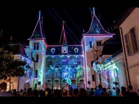 Laser mapping show Sierre 2017 - Fête nationale - Short Version