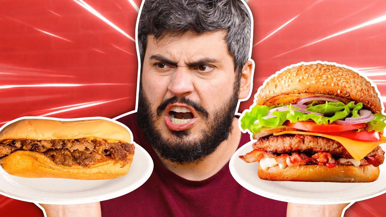 Ingredientes Caros vs. Baratos (Hambúrguer)