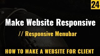 Responsive menubar and navigations in HTML website  - How to make a website in Hindi / Urdu