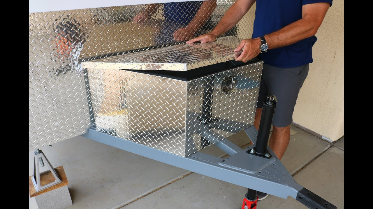 Diy Battery Tool Box Build Travel Trailer Project Youtube