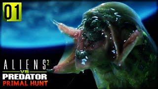 Aliens VS Predator 2 : Primal Hunt | PREDALIEN CHESTBURSTER (Predalien Campaign Part 1)