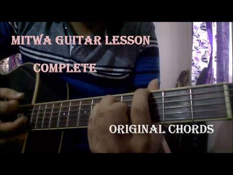 Mitwa Guitar Lesson | Original Chords & Intro | Beginners Lesson