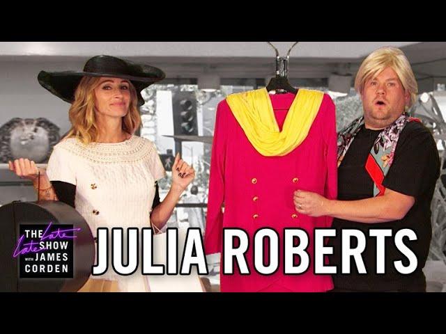 Julia Roberts recuerda su carrera con el humor de James Corden