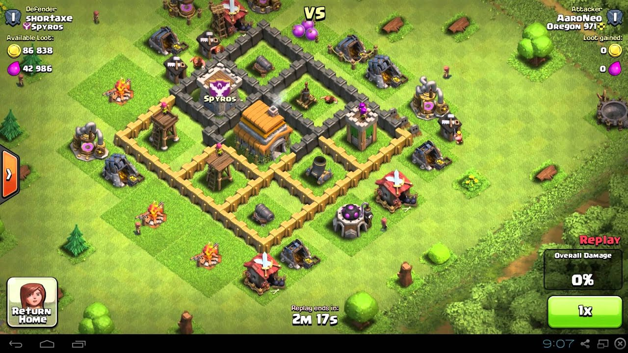 Best town hall level 5 th5 raiding attack strategy 1350 trophies