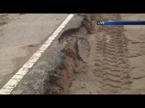 Rain nearly washes away Rio Rancho roads