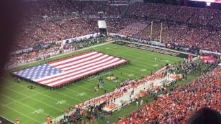 National Anthem at the 2017 National Championship with plane flyover AWESOME