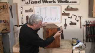 Adding A Finish To The Library Cabinet - A Woodworkweb.com Woodworking Video