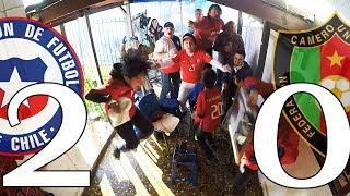 REACCION HINCHAS CHILE 2 VS CAMERUN 0 - COPA CONFEDERACIONES 18/06/2017