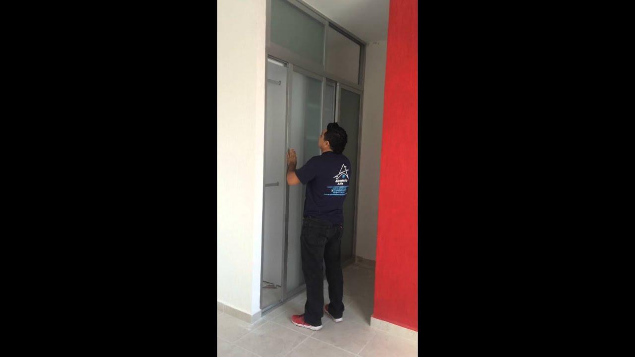Closet de aluminio y cristal youtube for Closet de aluminio