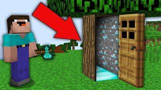 Minecraft NOOB vs PRO: HOW NOOB OPEN THIS DOOR LEADING TO SECRET PASSAGE? Challenge 100% trolling