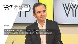 VYP. Jean-Marc Idir peintre et historien, un des commissaires de l'exposition Philippe Lejeune