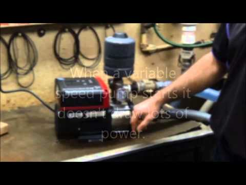 How does a variable speed pump work
