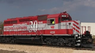 Re-Opening of Ex-C&NW Line in Fitchburg and Oregon 9/29/2014