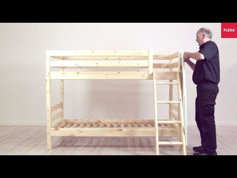 flexa classic bunk bed with slanting ladder assembly instruction youtube. Black Bedroom Furniture Sets. Home Design Ideas