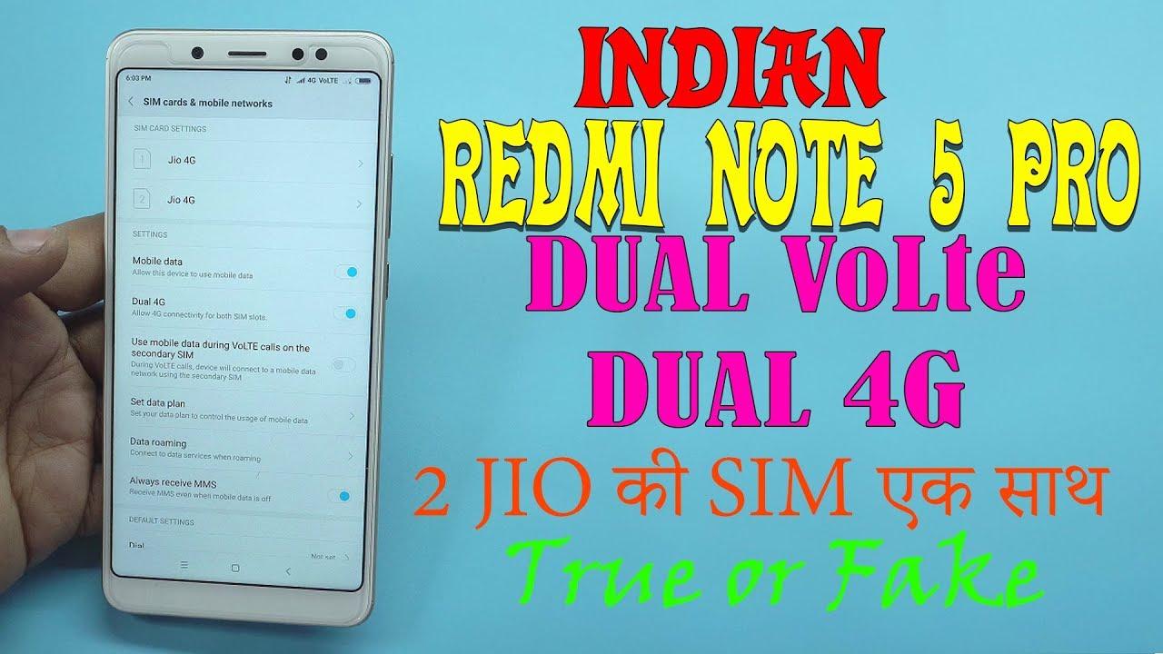 Dual 4g Dual Volte On Xiaomi Redmi Note 5 Pro Oreo 8 1 Miui 9 8